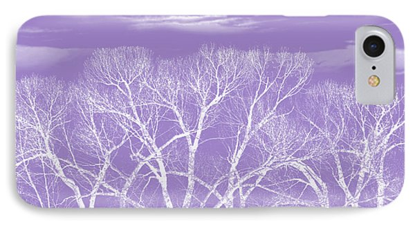 IPhone Case featuring the photograph Trees Silhouette Purple by Jennie Marie Schell