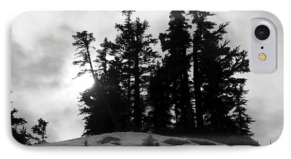 IPhone Case featuring the photograph Trees Silhouettes by Yulia Kazansky