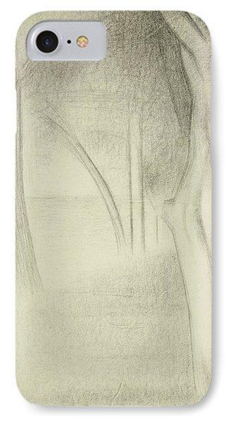 Trees  Study For La Grande Jatte IPhone Case by Georges Pierre Seurat