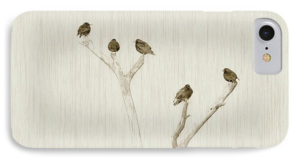 Treetop Starlings IPhone Case