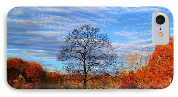 IPhone Case featuring the photograph Treetops Sunrise by Kathryn Meyer