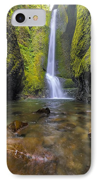 Trek To Lower Oneonta Falls Phone Case by David Gn