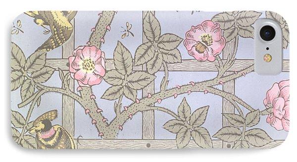 Trellis   Antique Wallpaper Design IPhone 7 Case by William Morris