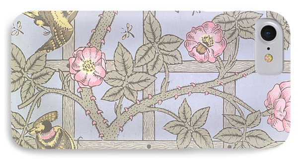 Trellis   Antique Wallpaper Design IPhone Case