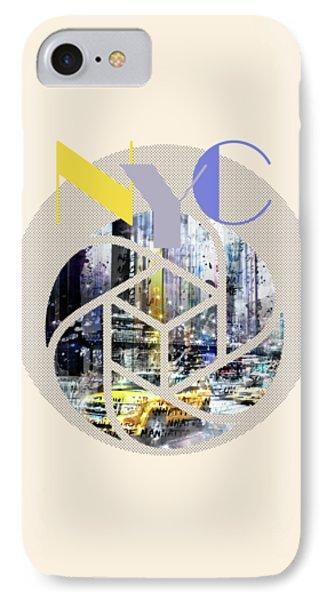 Trendy Design New York City Geometric Mix No 3 IPhone Case