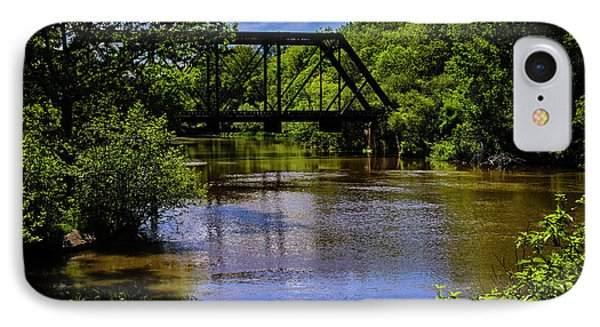 IPhone 7 Case featuring the photograph Trestle Over River by Mark Myhaver