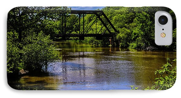 IPhone Case featuring the photograph Trestle Over River by Mark Myhaver