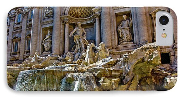 IPhone Case featuring the photograph Trevi Fountain From Right Side  by Harry Spitz