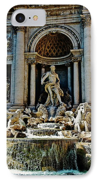 IPhone Case featuring the photograph Trevi Fountain Vertical  by Harry Spitz