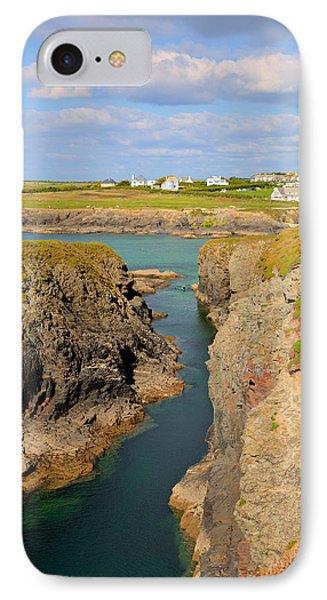 Treyarnon Bay Coast Cornwall England Uk Cornish North Colourful  IPhone Case by Michael Charles