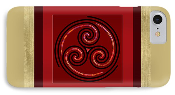 Tribal Celt Triple Spiral IPhone Case by Kandy Hurley