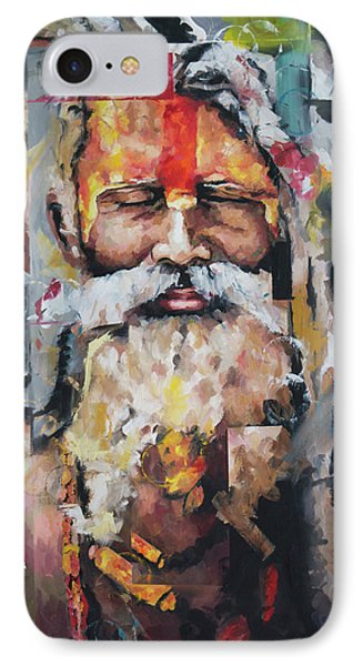 IPhone Case featuring the painting Tribal Chief Sadhu by Richard Day