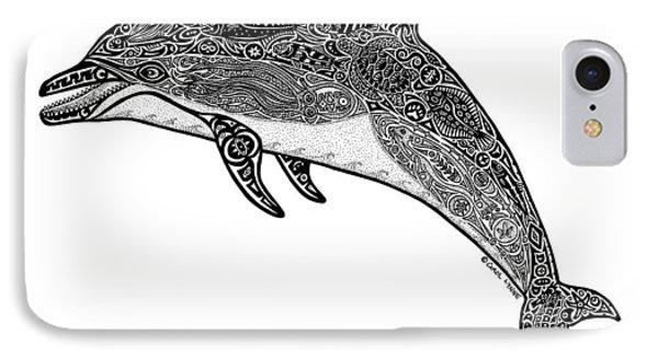 Tribal Dolphin Phone Case by Carol Lynne