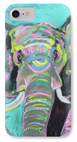 Tribal Elephant IPhone Case by Kim Heil