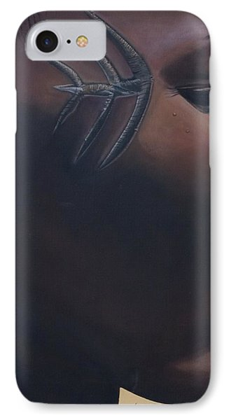 Tribal Mark IPhone Case by Kaaria Mucherera