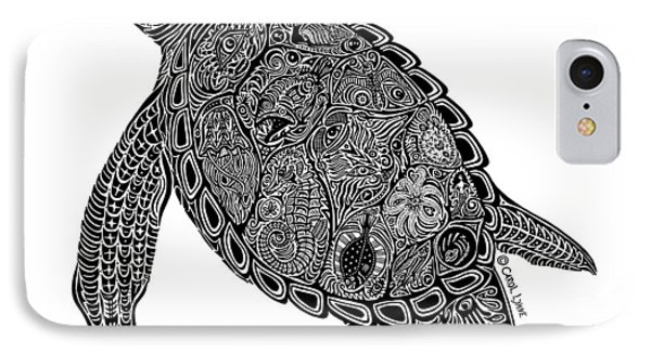 Tribal Turtle I Phone Case by Carol Lynne