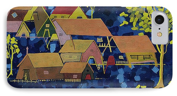 IPhone Case featuring the painting Tribal Village by Vilas Malankar