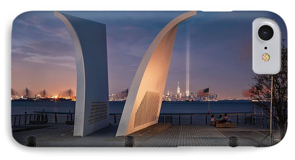 IPhone Case featuring the photograph Tribute In Light by Eduard Moldoveanu