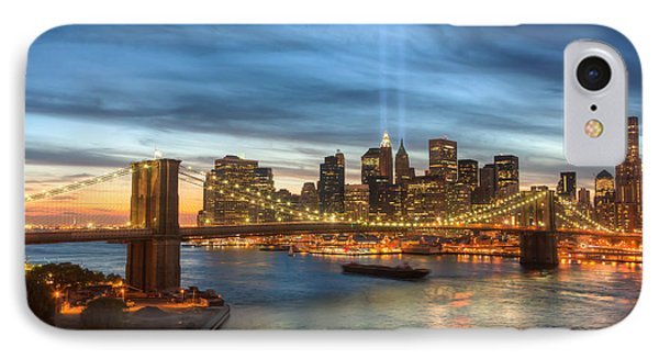 Tribute In Light I Phone Case by Clarence Holmes