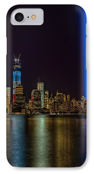 Tribute In Lights Memorial IPhone Case by Susan Candelario