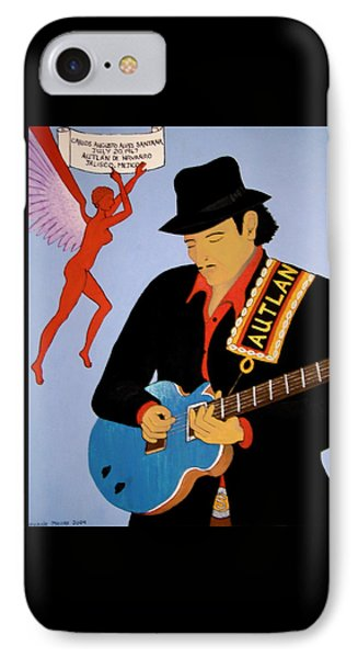 IPhone Case featuring the painting Tribute To Carlos by Stephanie Moore