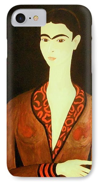 IPhone Case featuring the painting Tribute To Frida by Stephanie Moore