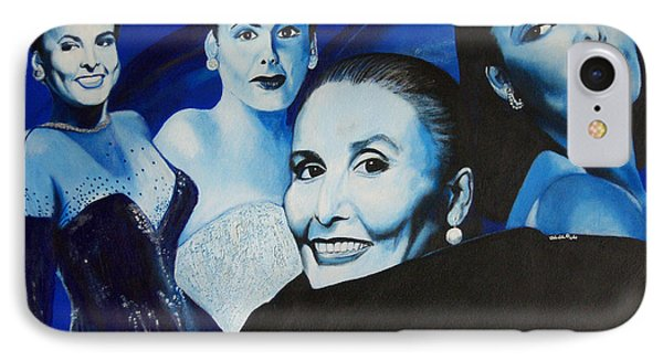 Tribute To Lena Horne IPhone Case by Chelle Brantley