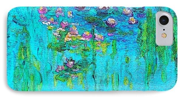IPhone Case featuring the painting Tribute To Monet by Holly Martinson