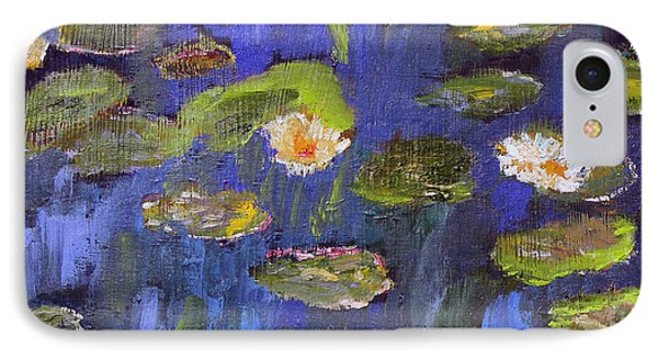 IPhone Case featuring the painting Tribute To Monet by Michael Helfen