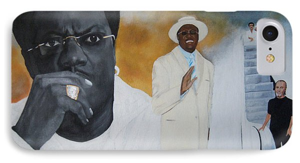 Tribute To Mr. Bernie Mac IPhone Case by Chelle Brantley