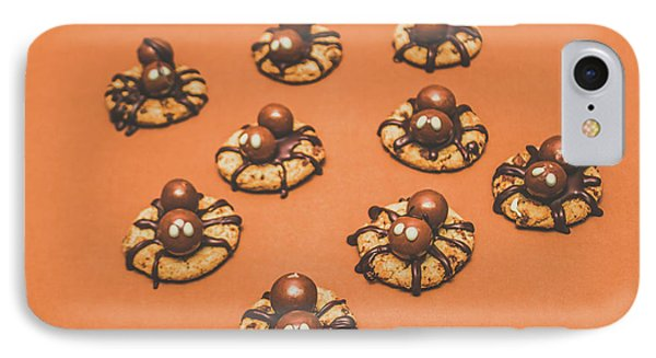 Trick Or Treat Halloween Spider Biscuits IPhone Case by Jorgo Photography - Wall Art Gallery