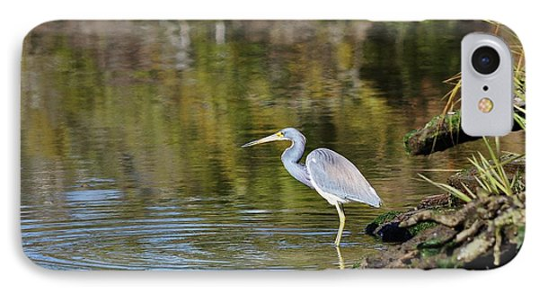 Tricolored Heron Fishing Phone Case by Al Powell Photography USA
