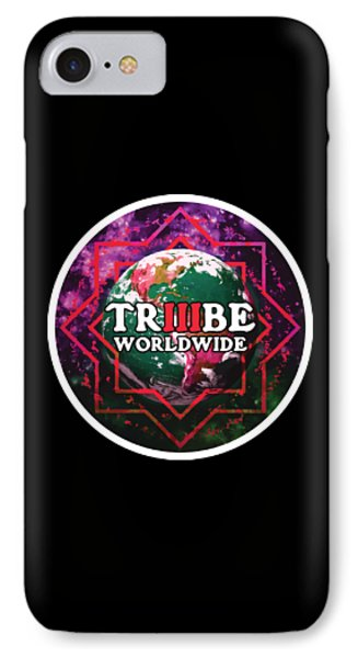IPhone Case featuring the painting Triiibe Worldwide By Lorcan by Chief Hachibi