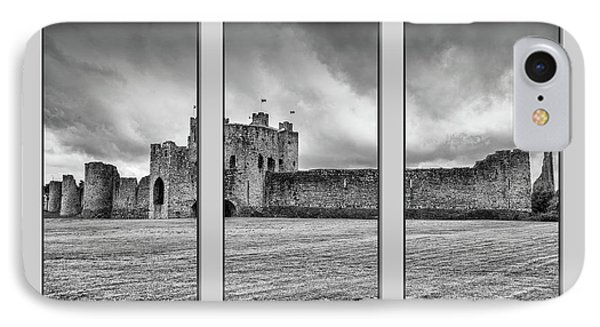 Trim Castle Triptych  IPhone Case by Martina Fagan