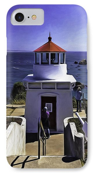 IPhone Case featuring the photograph Trinidad Memorial Lighthouse by Diane Schuster