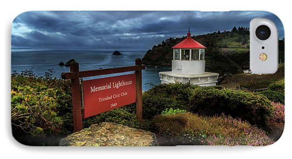 Trinidad Memorial Lighthouse IPhone Case by James Eddy