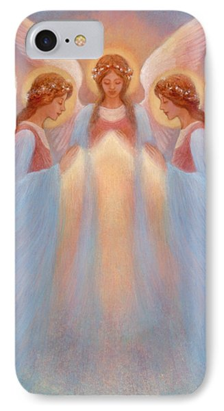 Trinity Of Angels Phone Case by Jack Shalatain