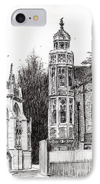 Trinity Street Cambridge IPhone Case by Vincent Alexander Booth