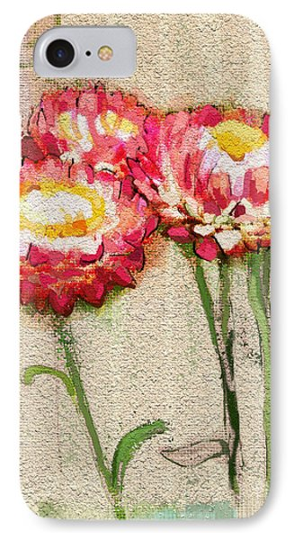 IPhone Case featuring the painting Trio by Carrie Joy Byrnes