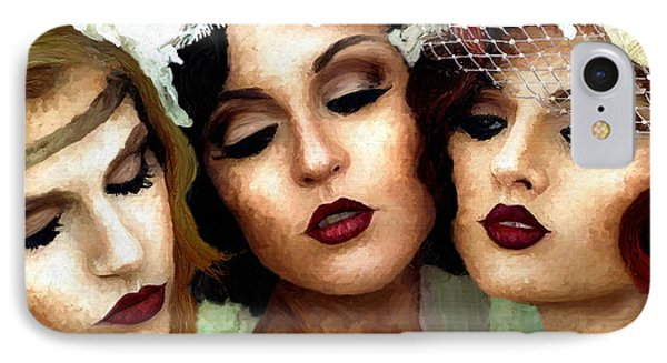 Trio Of Ladies IPhone Case
