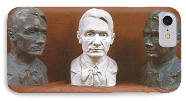 Trio Portrait Of Rudolf Steiner Phone Case by David Dozier