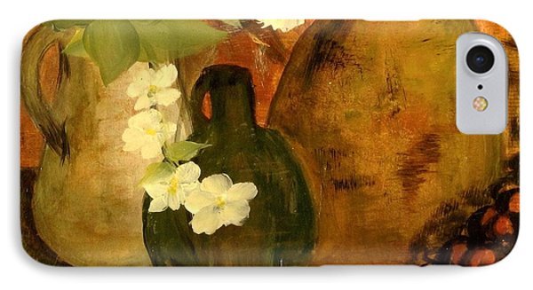 IPhone Case featuring the painting Trio Vases by Kathy Sheeran