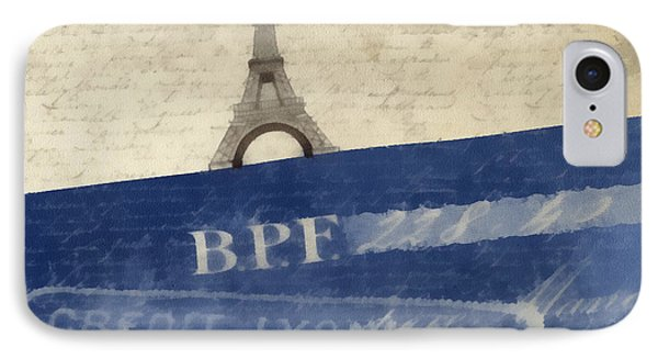 Trip To Paris Square Pillow Size IPhone Case by Edward Fielding