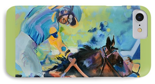 Triple Crown Champion American Pharoah IPhone Case by Donna Tuten