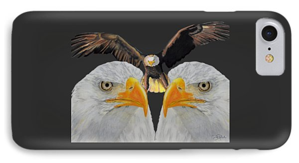 Triple Eagle Phone Case by Bill Richards