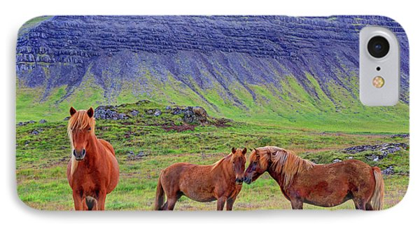 IPhone Case featuring the photograph Triple Horses by Scott Mahon