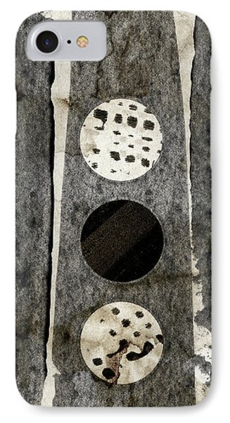 Triple Lunacy Abstract 2 IPhone Case by Carol Leigh