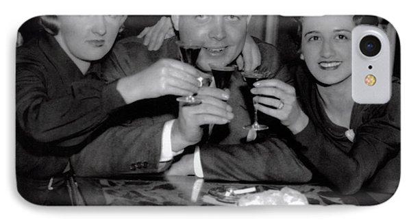 Triple Nightclub Toast - Prohibition Ends - Dec 5, 1933 IPhone Case by Daniel Hagerman