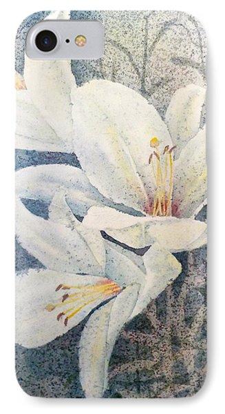 Triplefold White IPhone Case by Carolyn Rosenberger