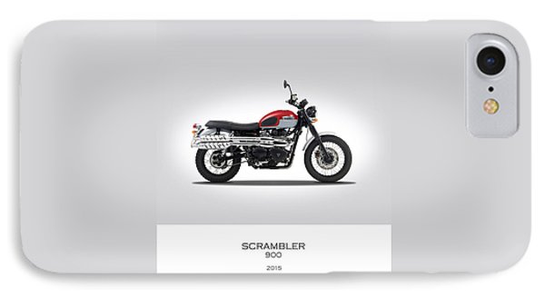 Triumph Scrambler 2015 IPhone 7 Case by Mark Rogan